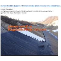 Quality 0.75mm Geomembrane for Irrigation Water storage Pond, 00:10 Impervious membrane composite geomembrane pond ,1.5mm HDPE for sale