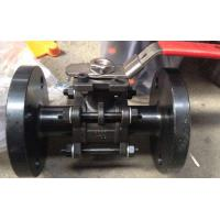 Quality 3PC Flanged Ball Valve , ASTM A216 WCB 2 Inch Carbon Steel Ball Valves pneumatic/with iso5211 for sale