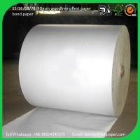 Quality Cheap book printing paper uncoated woodfree offset paper 60gsm for sale