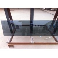 Quality Coated Reflective Float Glass Flat Shape Black Reflective Glass For Furniture / Wall for sale