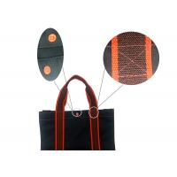 China Beach Structure 420D 100 Polyester Tote Bags Shopping Black And Red With Button on sale