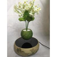 China new ceramic magnetic floating bottom air bonsai trees pots for gift on sale