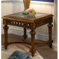 Quality coffee table antique wood+glass top coffee table for sale