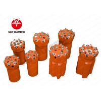 Quality Orange Alloy Steel Top Hammer Drill Bits , Thread Button Drill Bits ISO Approval for sale