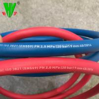 Quality 20 years production experience 20 bar red and blue color twin welding hose for sale