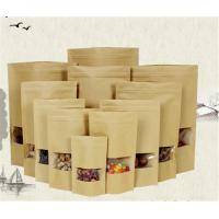 Quality Customized Zipper Kraft Paper Stand Up Pouch With Tear Notch Food Packaging for sale