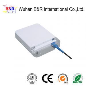 Quality White ABS 1 Port 125μM Fiber Optic Socket for sale