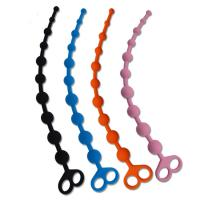 Buy 100% Medical Grade Silicone Anal Sex Toys Beads With Finger Loop at wholesale prices