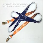 Quality Alligator clip card holder neck straps, bulldog clip ID badge neck ribbons, for sale