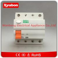 China SCHNEIDER DOMB4 4 pole 63 A 30 mA 0.030 A 15245 DIFERENCIAL ELCB wholesale