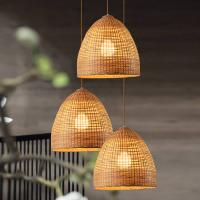 Quality Wicker basket pendant lights Kitchen Dining room Sitting room Decor (WH-WP-18) for sale