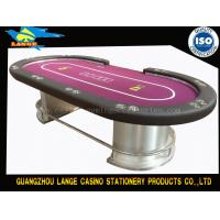 Quality LED Texas Hold Em Poker Table With D Leg for sale