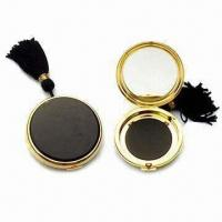 Quality Metal Cosmetic Case for Powder, with Gold and Silver Finishings for sale
