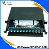 Quality 1u 24Port Fiber Optic Patch Panel LC Type , 19inch 24 Port Fiber Optic Terminal Box for sale