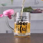 Quality 12 oz craft beer mug with bell customizable printing logo for sale