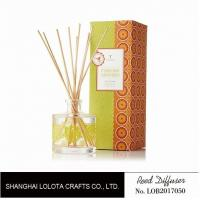Clear Round Bottle Long Lasting Reed Diffuser , Room Scents Reed Diffuser