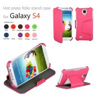 China Pink Slim Leather Samsung Galaxy Phone Case , Unique Anti Scratch on sale