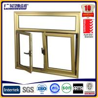 Quality Wood color Aluminium double glazed windows for tilt and turn aluminium window (Guang zhou) for sale