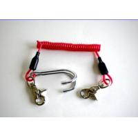 China 3.0mm Diving Stainless Steel Reef Coiled Lanyard Double Hook Spiral on sale