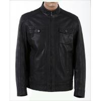 China Size 46, Size 48, Casual and Designer, Fitted Young Mens Fleece Lined Leather Jacket on sale