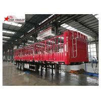 Quality Cargo Stake Side Wall Semi Trailer 60T Heavy Duty Load With Longer Service Life for sale