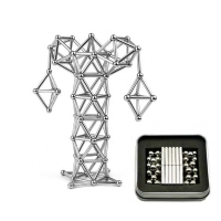 China Tower Shape Silver NdFeB Magnetic Building Blocks on sale