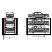 Quality Stereo Auto Park Garage 415V 2700kg Double Cylinder Galvanized Surface for sale