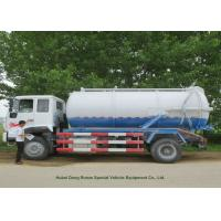Quality 12000L Sewage Sucking Truck With Vacuum Pump , Sewer Cleaning Truck for sale