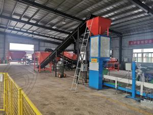 Quality 5000 Ton per year chicken pig sheep manure organic fertilizer powder fertilizer production line process for sale