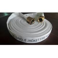 China Ul 1.5 Inch Single Jacket Fire Hose , Fire Extinguisher Hose Pipe With Nst Brass Coupling on sale