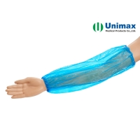 Quality Blue Red 0.02mm PE Plastic Sleeve Cover For Food for sale