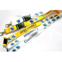 Quality Promotional logo full color print neck ribbon strap with ABS side release buckle, for sale