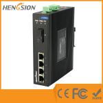Quality 4 Megabit Ethernet / 1 Megabit FX 5 Port Network Switch Din Rail for sale