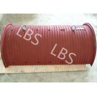 China Wire Rope Or Cable Hoisting Drum Requiring Lebus Sleeve Steel Material on sale