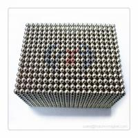 Quality N35 magnetic ball D5mm Nickel coating for sale