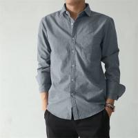 Quality Long - Sleeved Casual Work Uniforms Slim Fit Single Row Rubber Button Design for sale