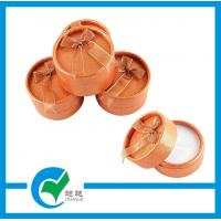 Quality Girls Orange Customized Round Jewlry Packing Box with Ribbon for sale