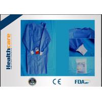 Quality SMS Sterile Disposable Surgical Gowns , Disposable Theatre Gowns Anti - Blood S-3XL for sale
