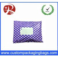 China Purple White Polka Dot Printed Post Plastic Mailing Bags Inflatable Packaging on sale