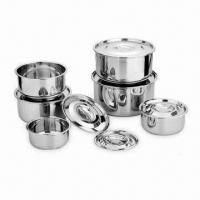 Quality Indian Pan Set with 14 to 30cm Sizes, Made of SS 201 Material for sale