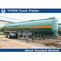 Quality 35000 Liters Capacity military tanker truck trailer , two axles semi trailer tanker for sale