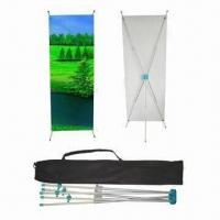China Adjustable X Banner Stand, Made of Aluminum Material, Eco-friendly, Available in Various Sizes on sale