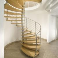 Quality Modern Design Indoor Stairs Stainless Steel Railing Glass Spiral Staircase for sale