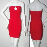 Quality Evening bandage dress sexy red keyhole short sheath evening dress for sale
