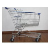 Buy cheap Supermarket Metal Handcart Rustless 4 Wheels Shopping Trolley For Shop from wholesalers