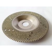 Quality Wholesale 4 Inch Electroplated Diamond Cutting Blades For Glass / Marble / Granite for sale