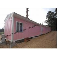 Quality Light Duty 40ft Prefab Container House For Temporary Accommodation With Painted Surface for sale