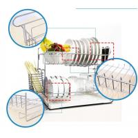 Quality Wall Mounted Kitchen Wire Baskets Large Storage Space Free Move For Houseware for sale