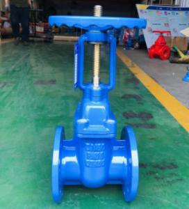 China Rising stem Cast Iron GG25 Metal seated Gate Valve with Handwheel operator on sale