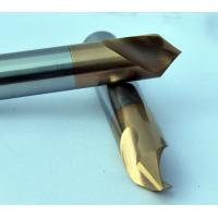 Quality Dia 3 mm 90 Degree Chamfer End Mill , 50 mm Length Milling Machine Cutters for sale